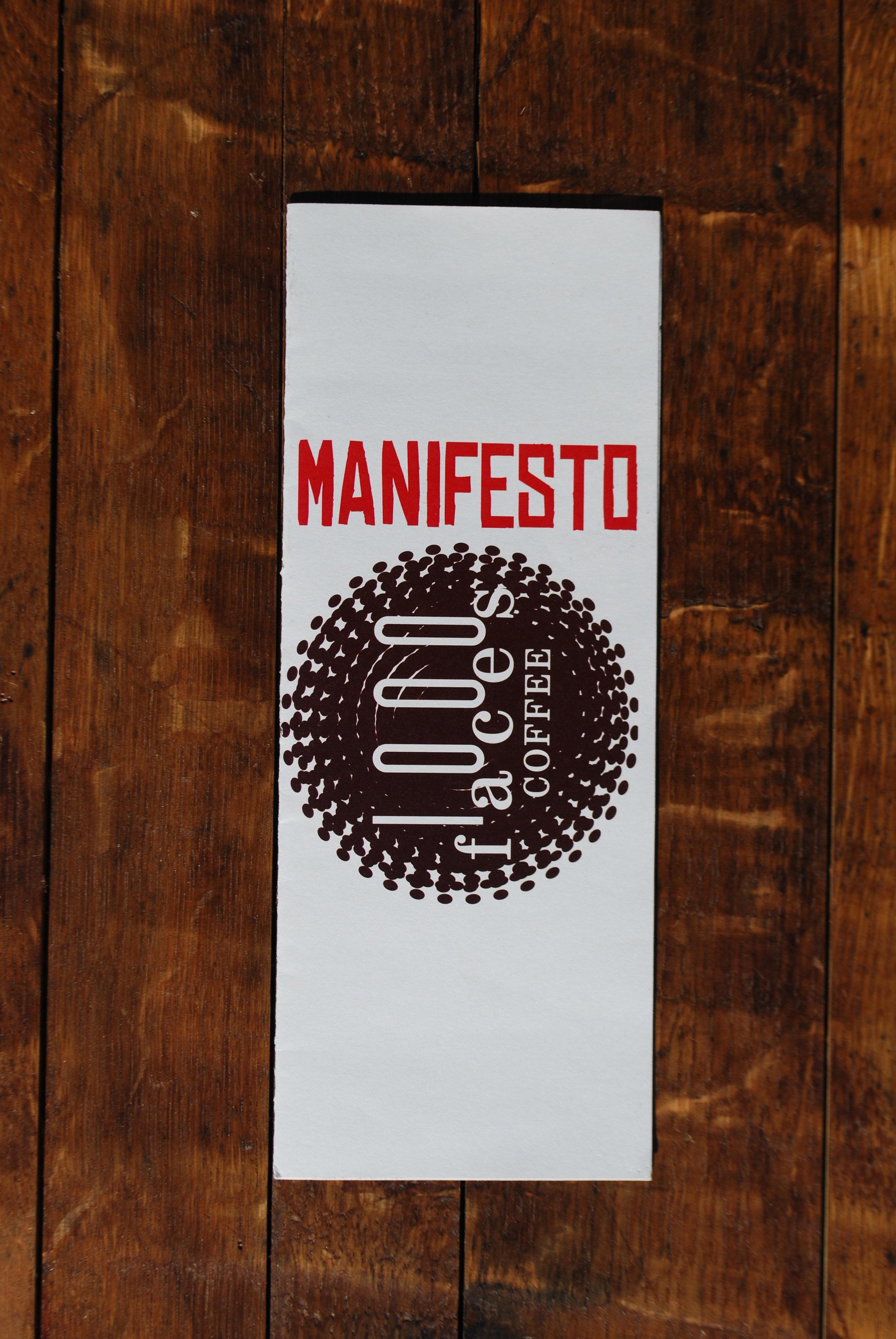 menu + manifesto