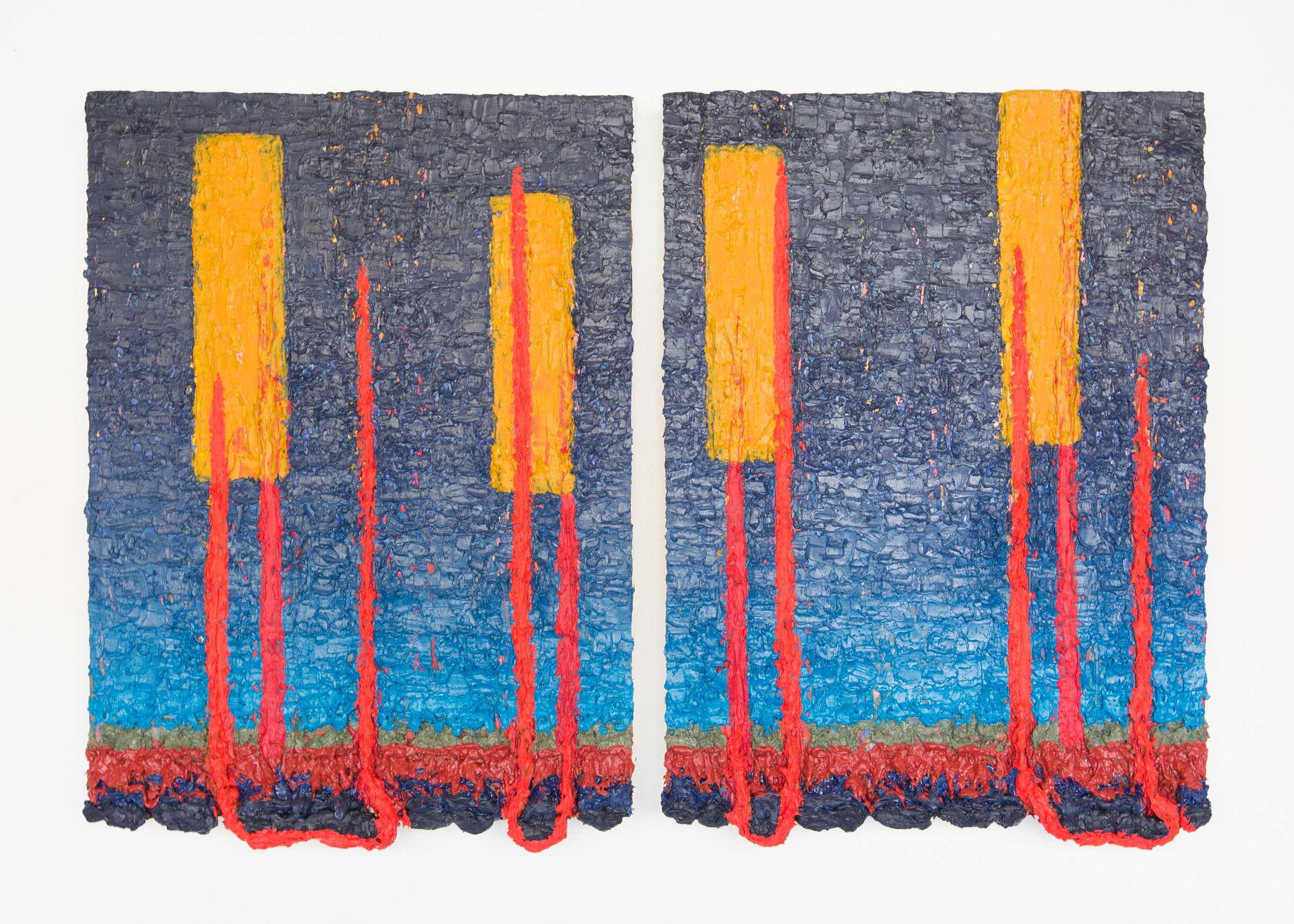Joshua Thompson,  These Tethered Anchors Will Not Hold , 2015-17 (diptych)