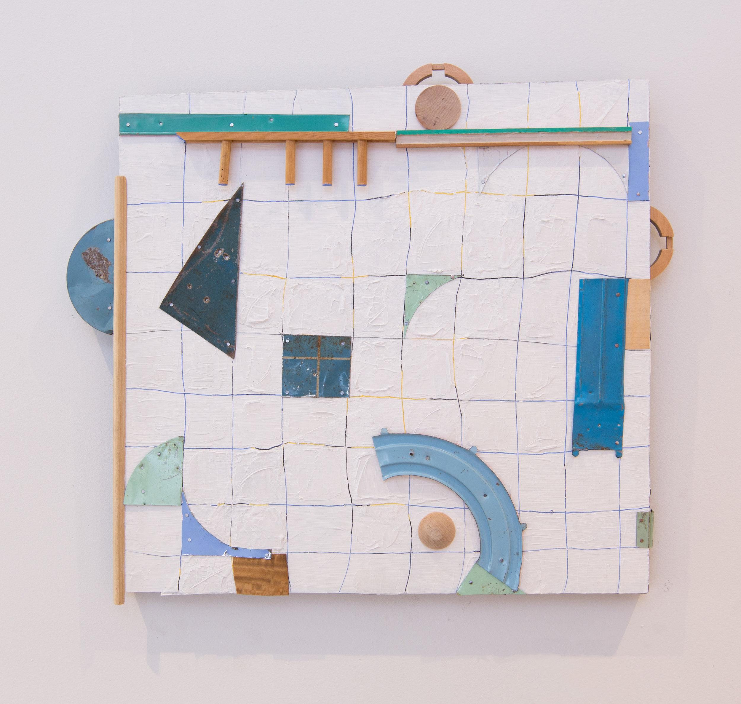 Elizabeth Arzani,  Subtle Suggestions In Blue , 2017