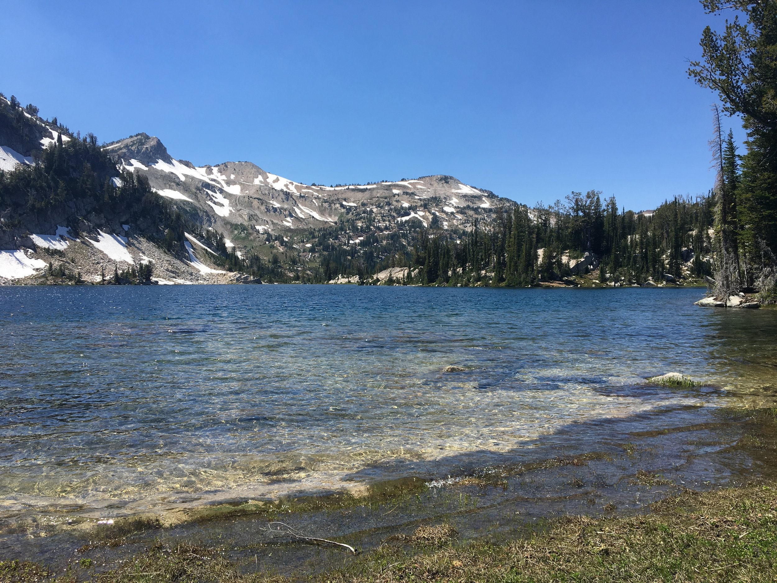 Mirror lake was dramatically colder than Horseshoe lake.