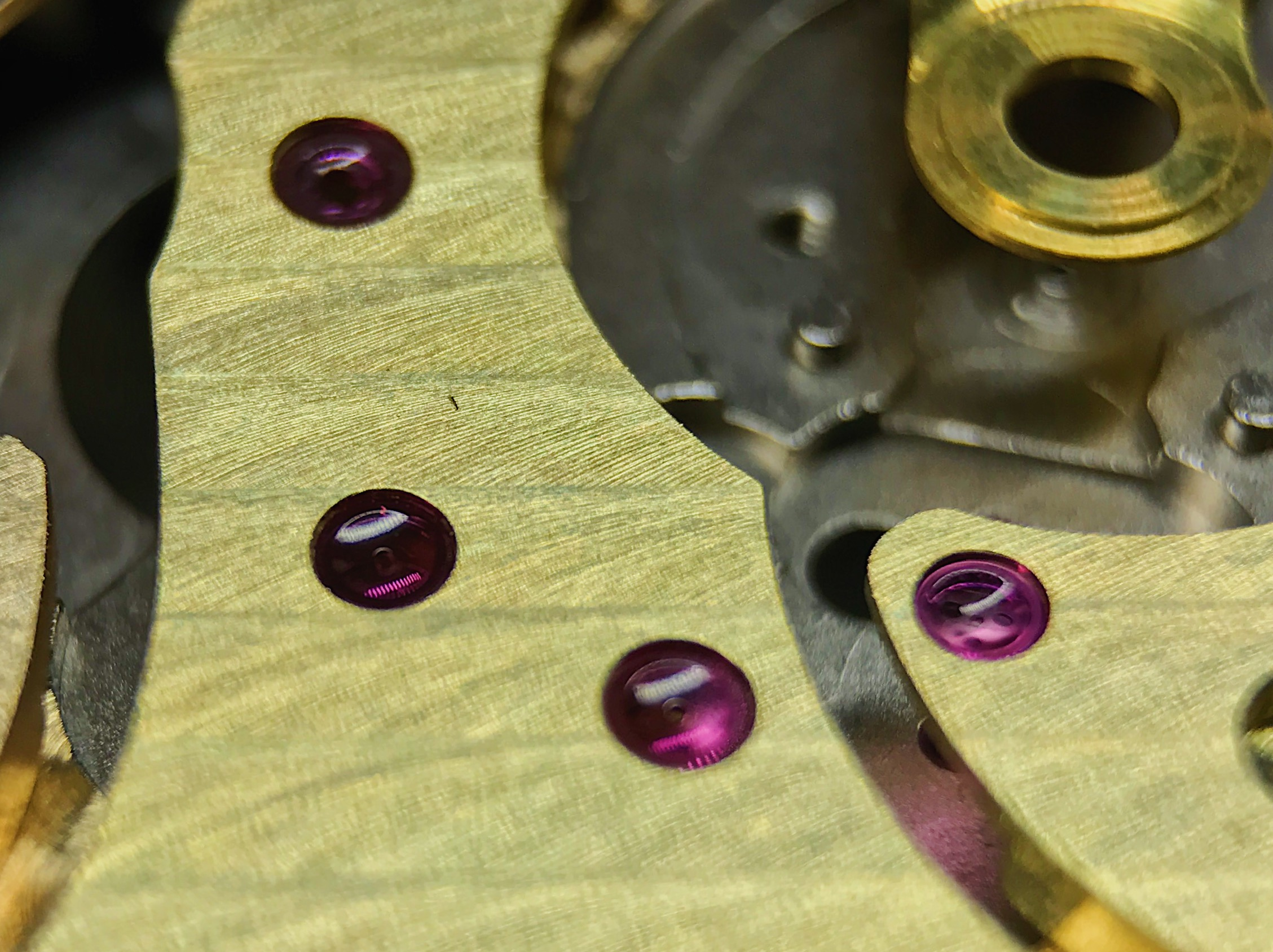 The jewel countersinks are also pretty much gone. I'll have to pop the jewels out to rechamfer the holes.