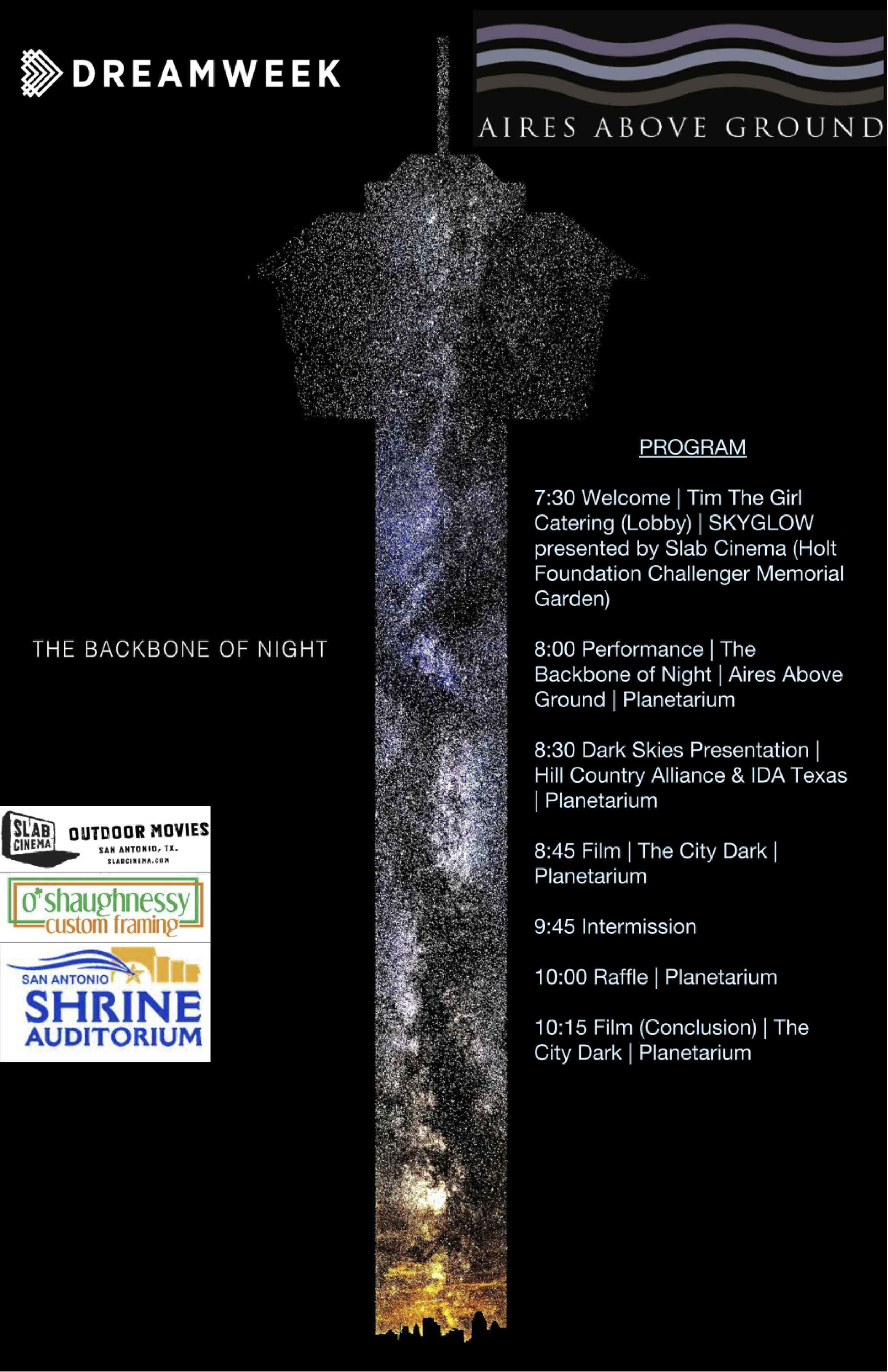 Past Events - The Backbone of Night @ Scobee Education CenterJanuary 11, 2019