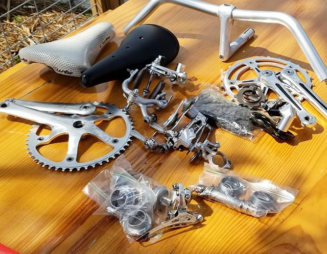 Taking some bike parts out to lunch