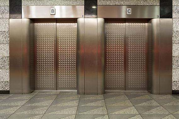 Etched Stainless Steel Door