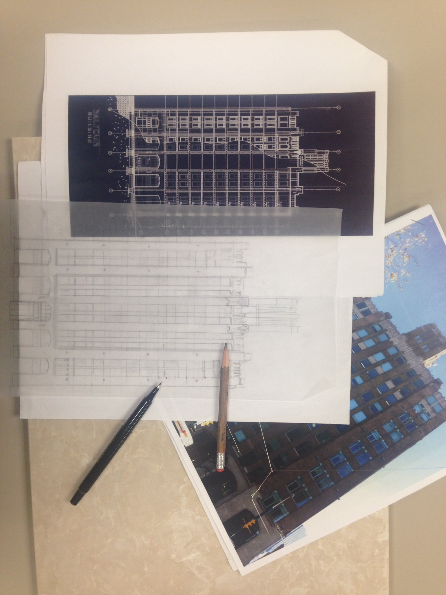 Balfour Building Drawing