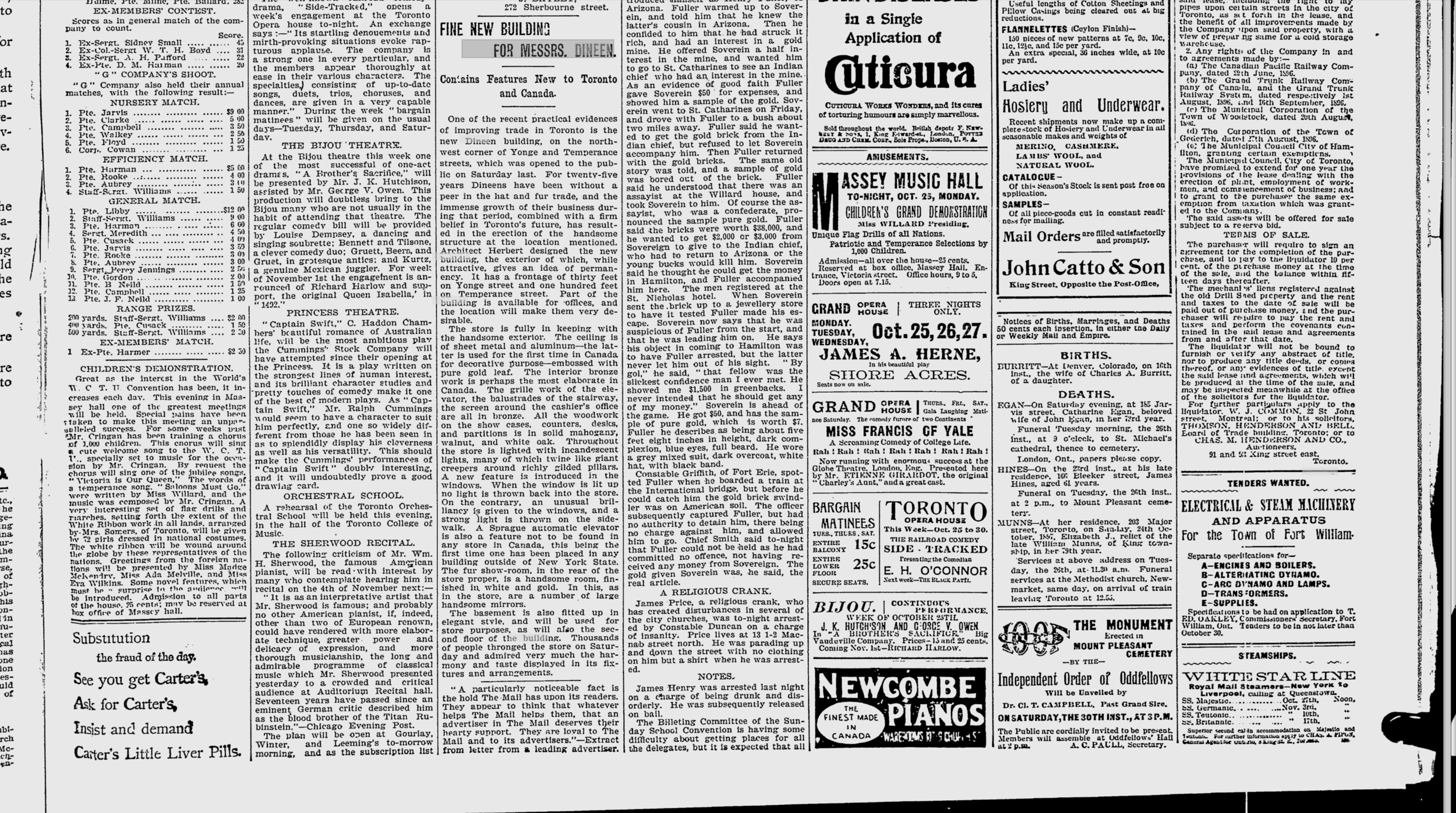 Daily Mail and Empire - Oct 25, 1897.