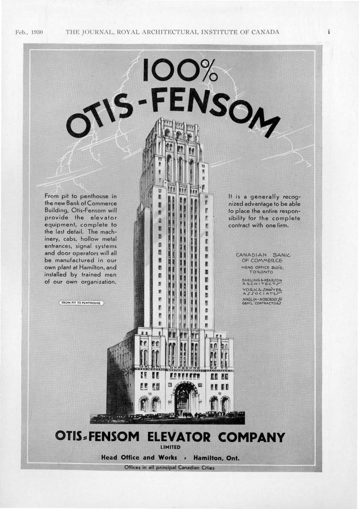 Otis-Fensom Commerce Court Ad