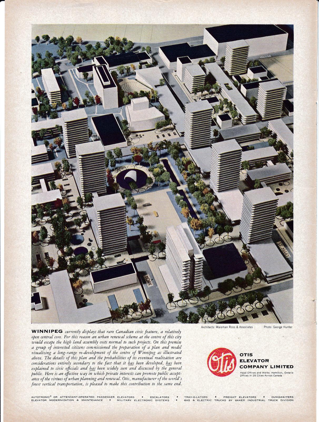 1963 Otis Elevator Winnipeg Canada Central Core Original Magazine
