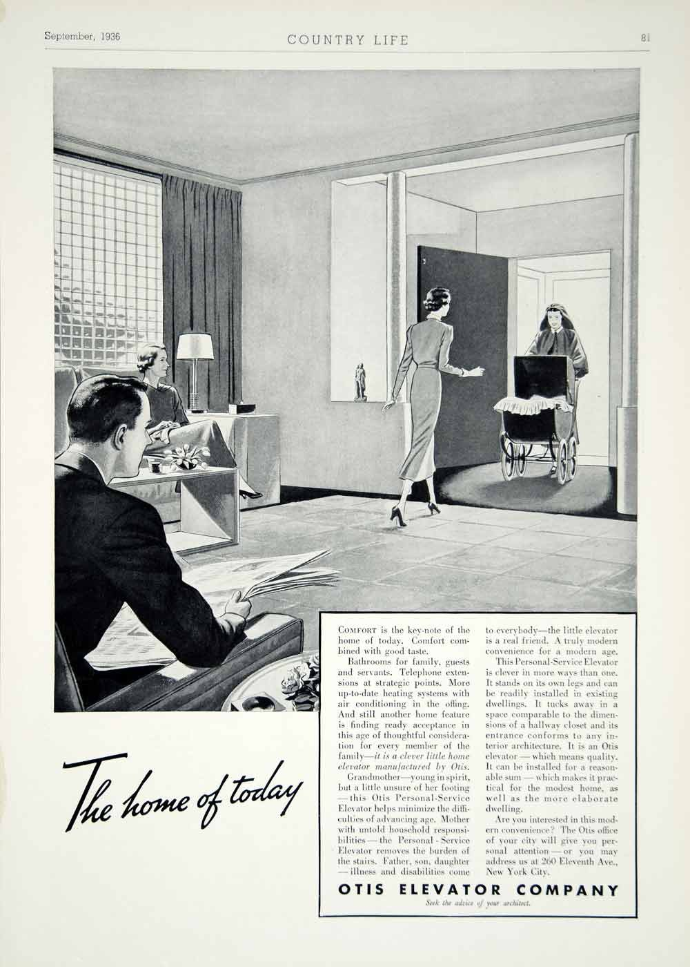 1936 Ad Otis Elevator Art Deco 260 Eleventh Ave NYC Household Appliance YCL2 .jpg