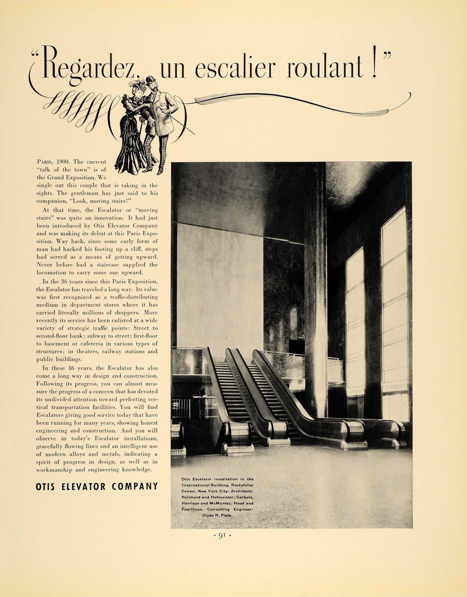 1936 Ad Otis Elevator Company Rockerfella International Building - ORIGINAL ADVERTISING F5A.jpg