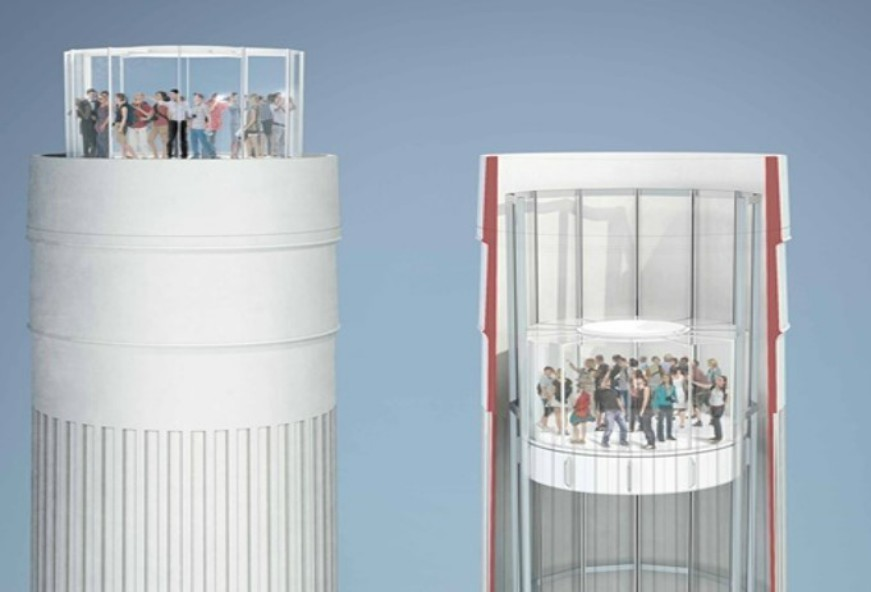 New images of the cylindrical lift – dubbed the 'great glass elevator' – have been released by the developer behind the £9 billion regeneration of the Grade II.