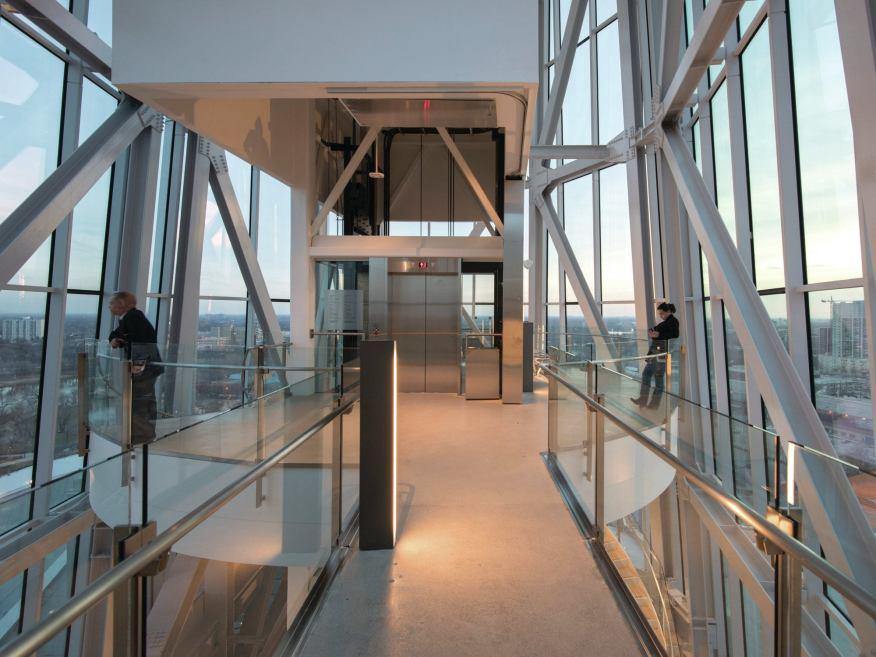 Observation deck platform