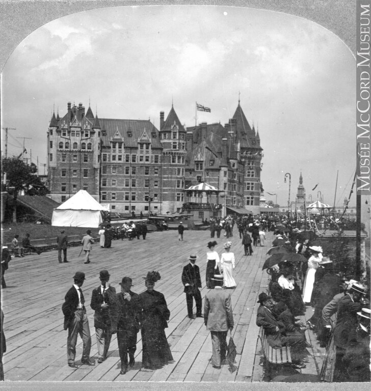 Dufferin Terrace and Chateau Frontenac,1908年