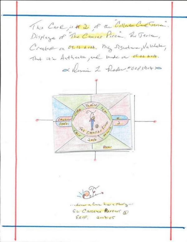 Artwork included in the letter