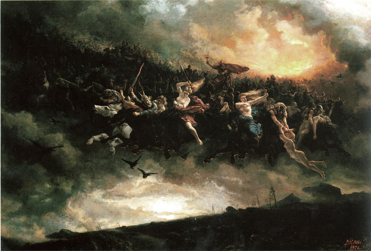 The wild hunt:  Asgårdsreien  (1872) by Peter Nicolai Arbo