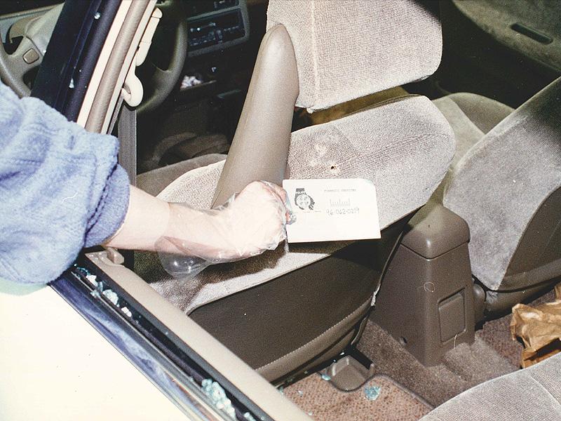 Inside of Jody's Vehicle