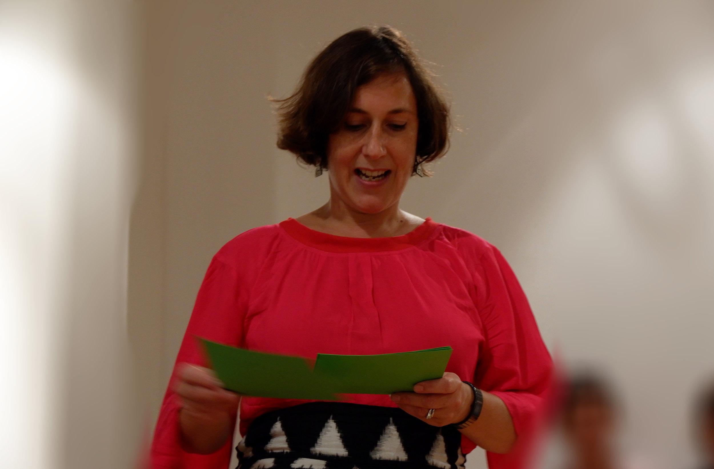 Eleine Friedlander, the founder of Nuwa, did a wonderful welcome speech.