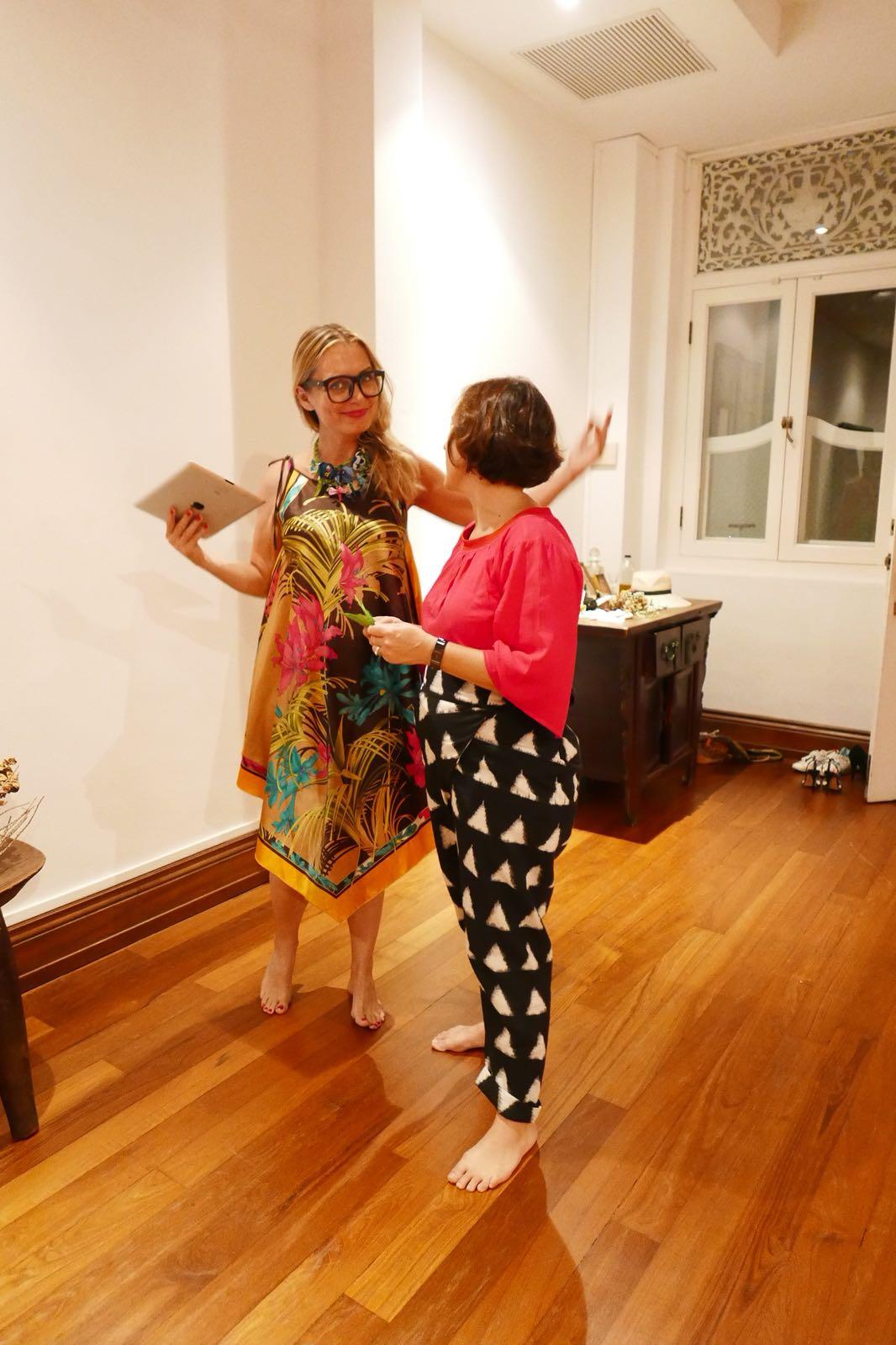 Mamakan and Elaine Friedlander sharing notes and ideas.