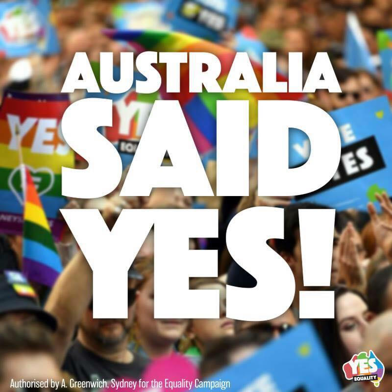 It was all worth-while as of the 12.7 million Australians who voted, 61.6% voted YES!!!!!