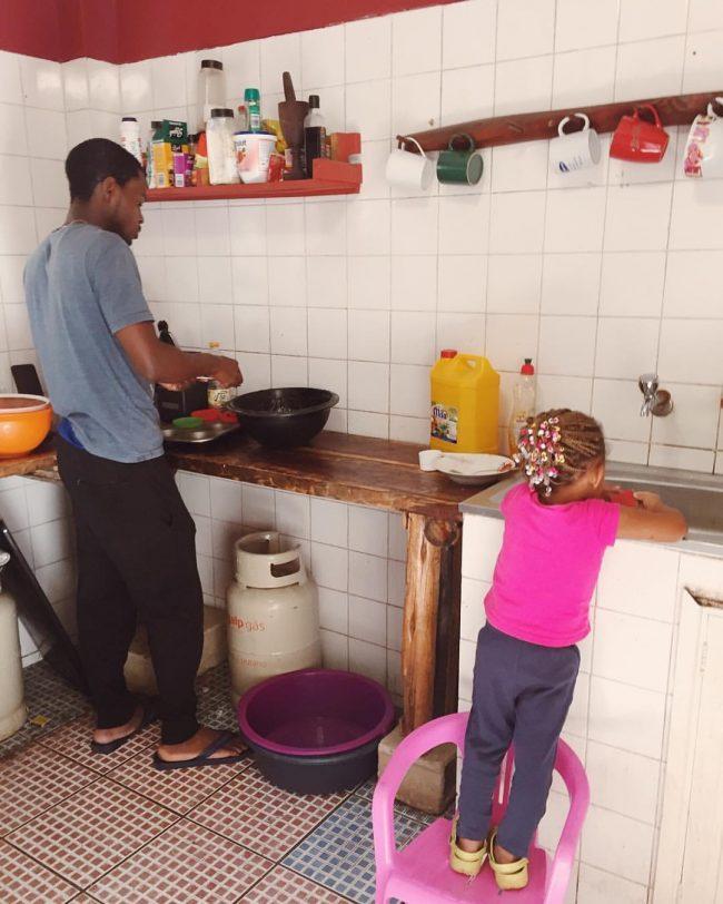 Edson and Melina baking