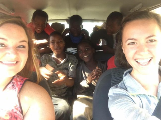 Me and Alexis driving a group of Masana boys to the water park for um de Junho! (national children's day in Moazambique)