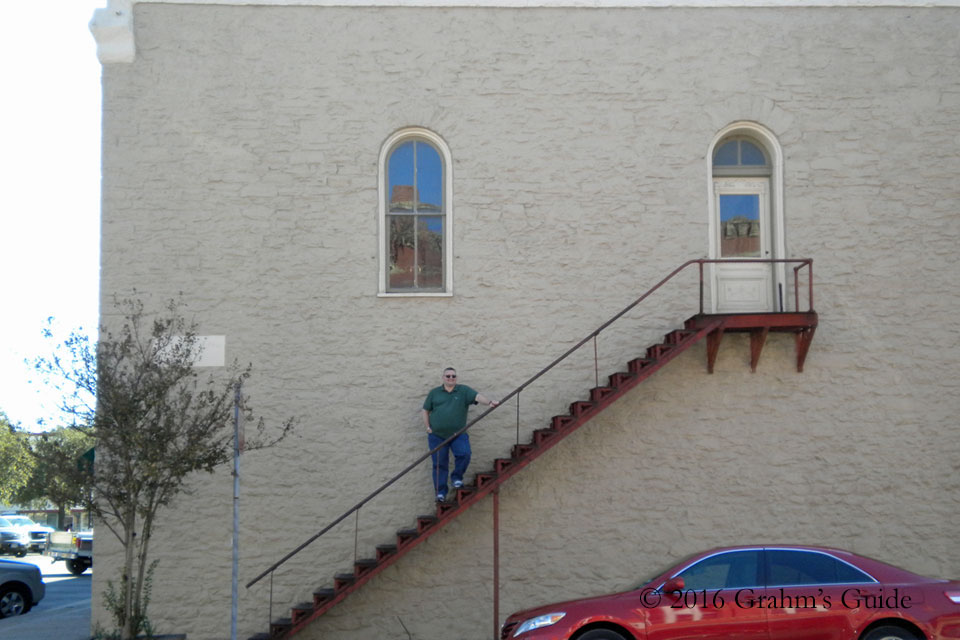 """The steps of """"Corky's Apartment"""" from  Waiting for Guffman , as seen in November 2011"""