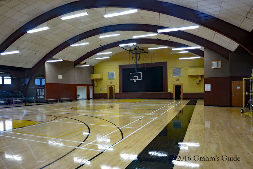 Waiting for Guffman 's gymnasium interior, as seen in May 2013