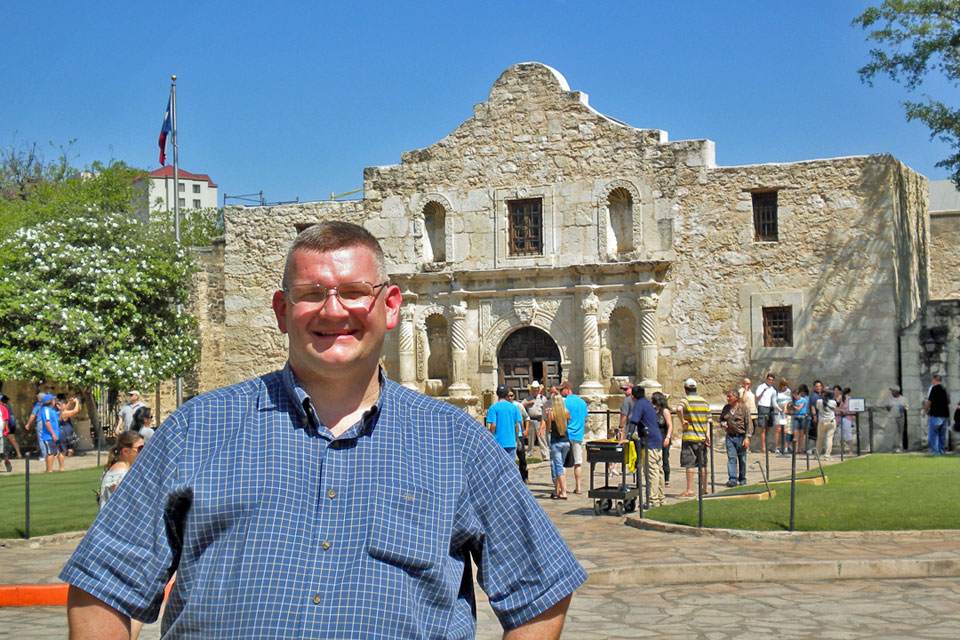 At the Alamo in March 2012
