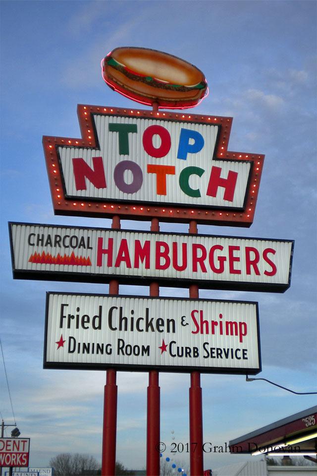 Top Notch Hamburgers Sign