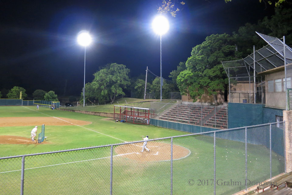 The baseball field from  Dazed and Confused , as seen in May 2013  This doesn't match any view from the film, but provides a good overview of the field
