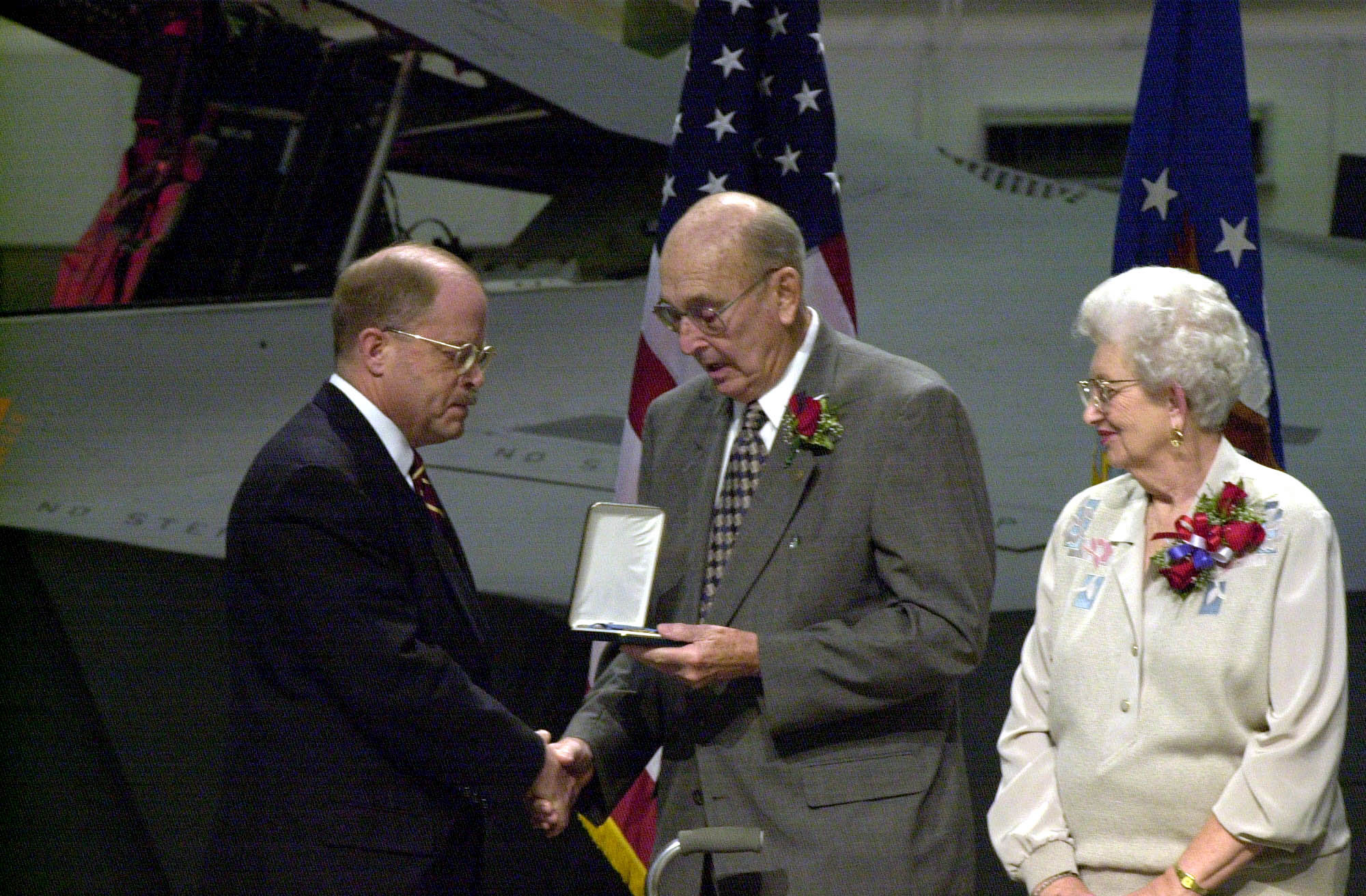 William F. Pitsenbarger Accepts the MOH for William H. Pitsenbarger