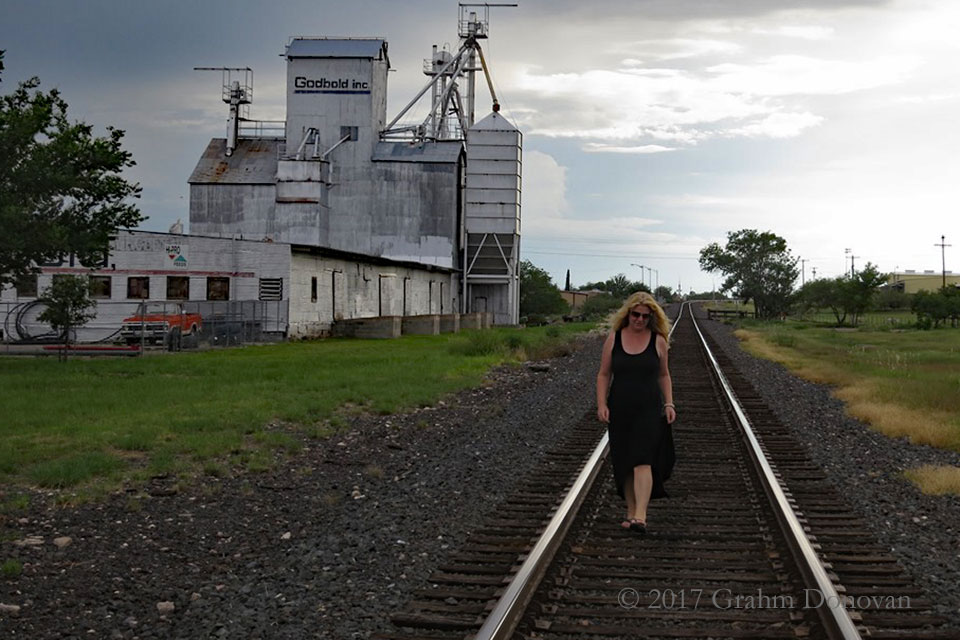 "On the tracks featured in the ""Home"" video, as seen in July 2013"