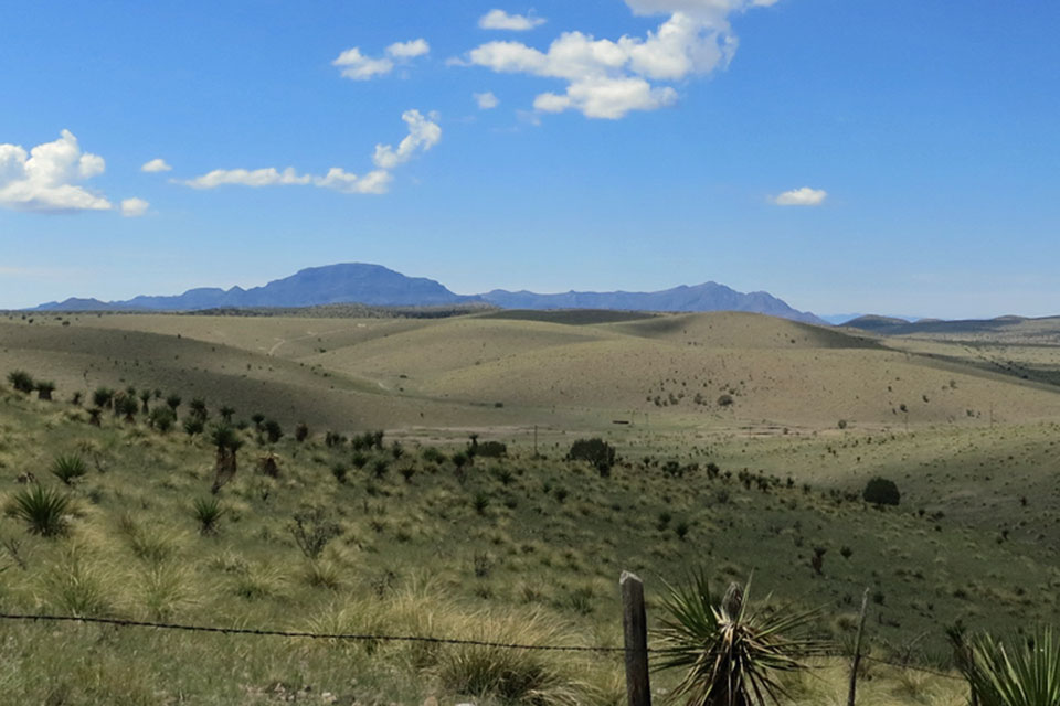 Rolling hills from the opening of  No Country for Old Men , as seen in August 2012