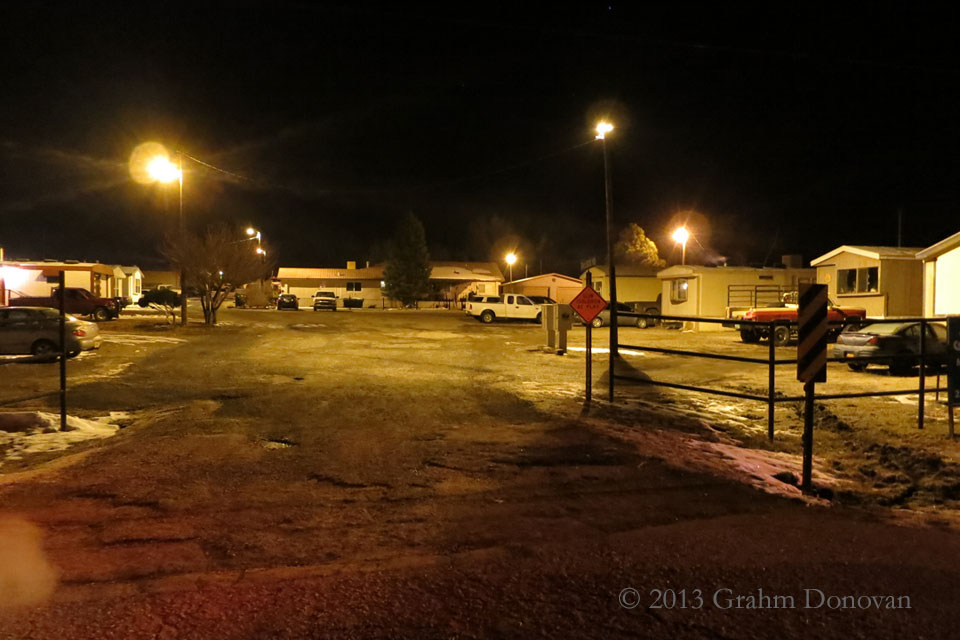 Copy of Desert Aire Trailer Park at Night