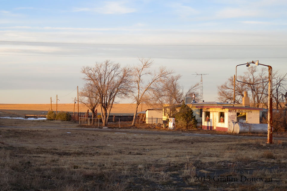 The gas station from  No Country for Old Men , as seen in November 2013