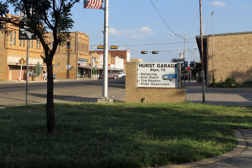 """Site of the """"Welcome to Grand Island, Nebraska"""" sign from  Children of the Corn IV , as seen in July 2014"""