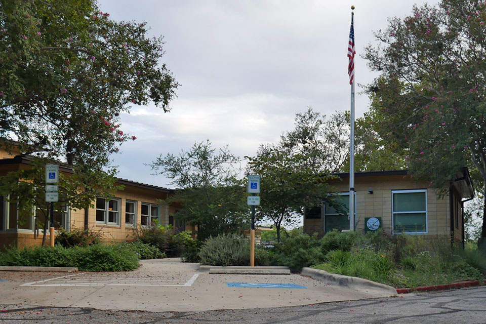 Site of the Grand Island Community Clinic from  Children of the Corn IV , as seen in September 2018