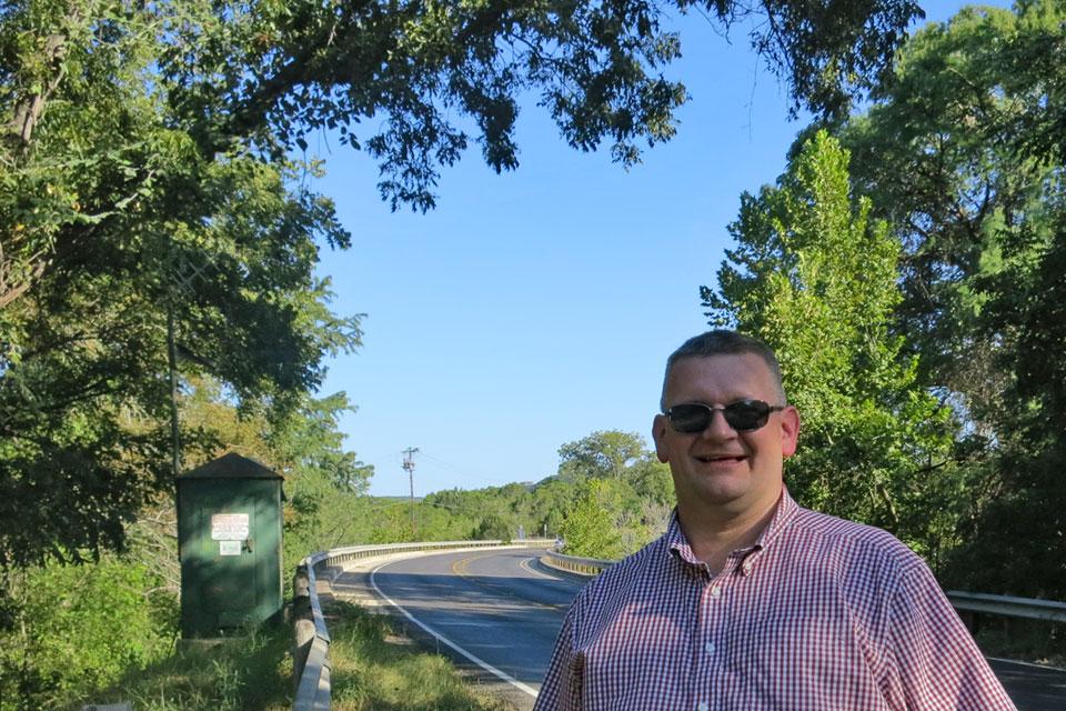 At the Red Pickup Bridge
