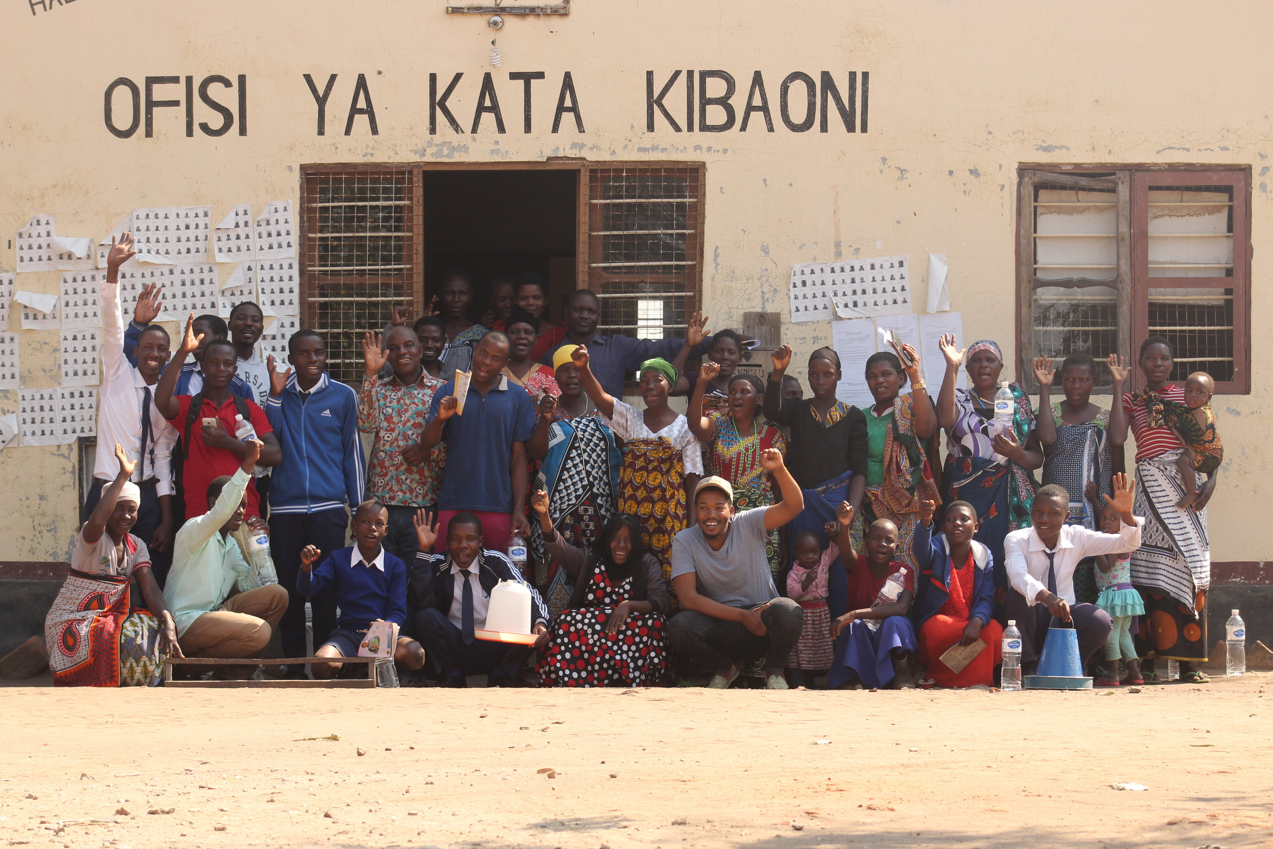 A group photo of the chicken beneficiaries and other invited farmers after training