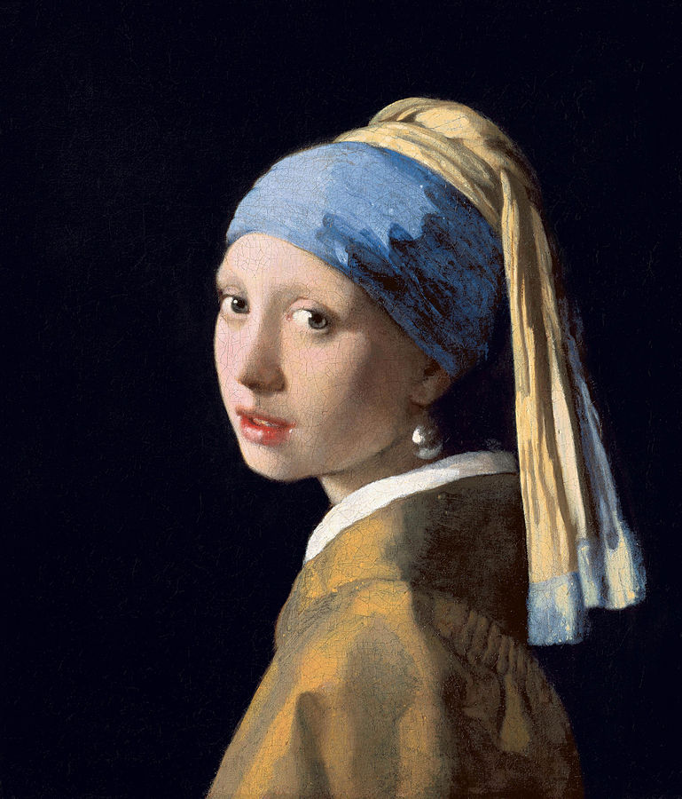 Johannes Vermeer:  Girl with a Pearl Earring.  1665. Image in public domain.