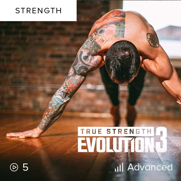 True Strength Evolution 3    Develop strength and body intelligence as you push yourself further than you thought possible, building on everything you learned in Part I and II.