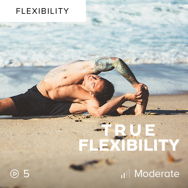 True Flexibility    Reduce muscle resistance and increase strength in this flexibility plan that will open up your body through yin- and yang-style stretching, dynamic stretches, and static strength holds.