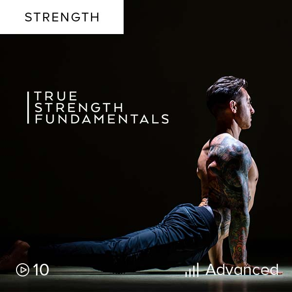 True Strength Fundamentals    Build strength, transform your body, and develop body awareness with this highly focused training program of yoga-based moves combined with strength and skill training to elevate your True Strength.