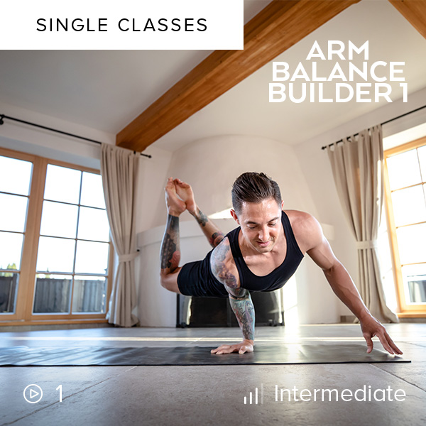 Arm Balance Builder 1    This 10-minute drill is designed to challenge and improve your arm balance skills. Before diving into this class, you should already feel somewhat comfortable in crow and koundinyasana.