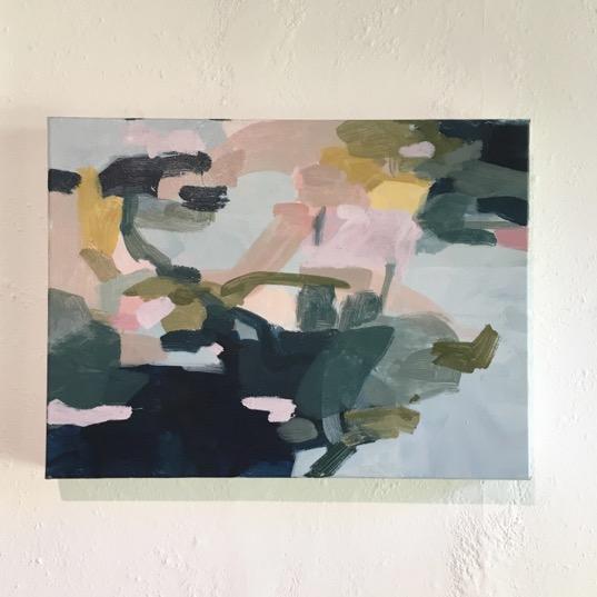 "Coastal path - Original painting on canvas30.5 x 40.5 cm( 12"" x 16"")"