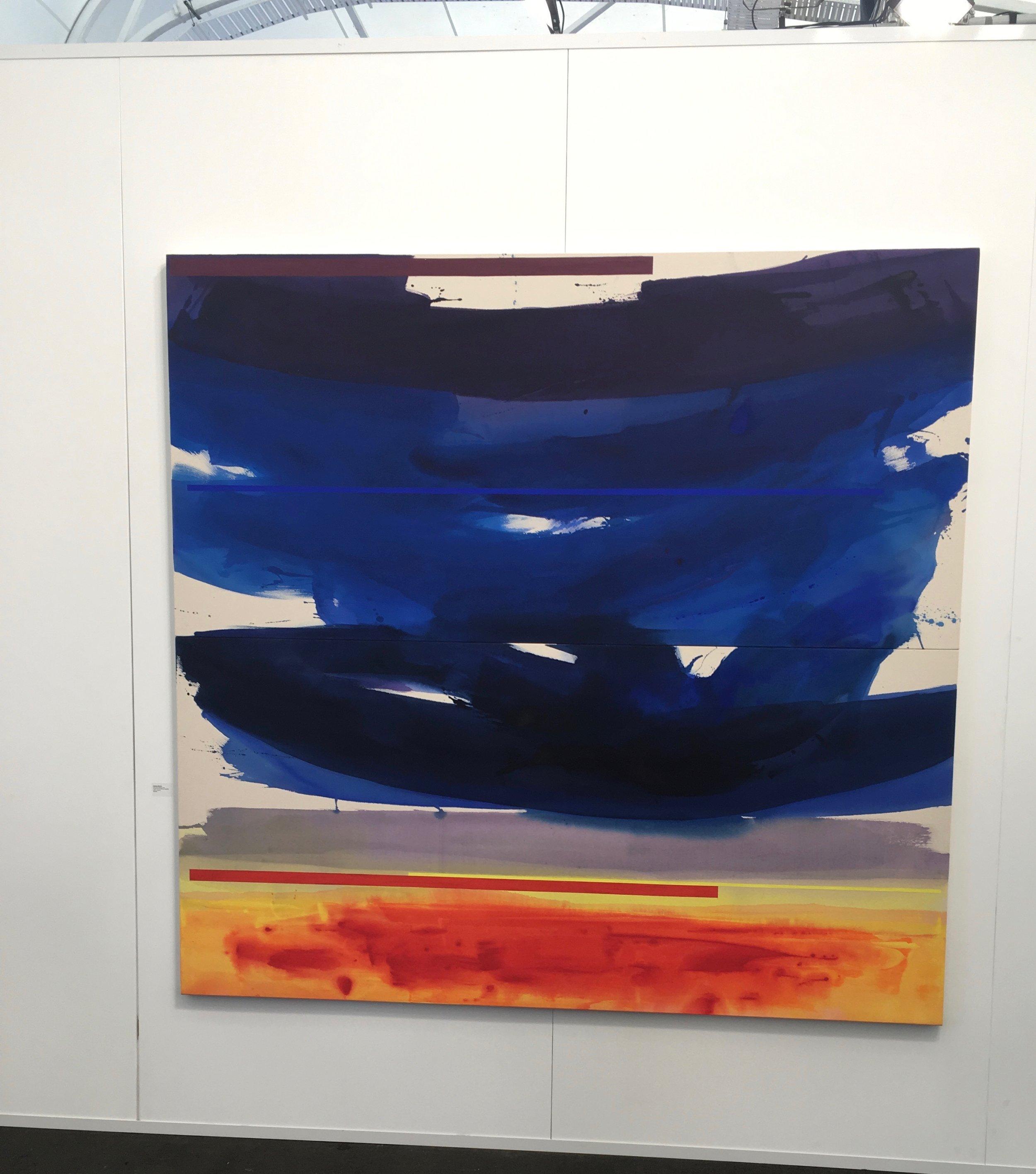 Gretchen Albrecht painting at Auckland Art Fair
