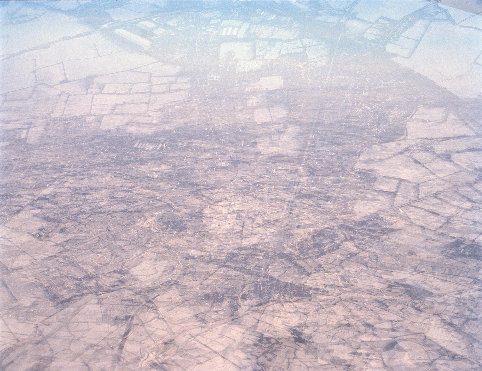 a snowy flight