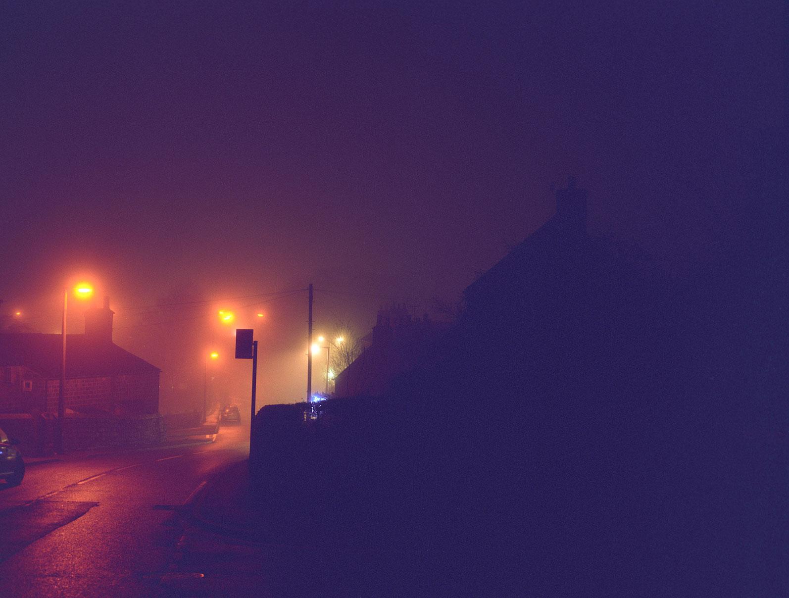 a misty night - a.