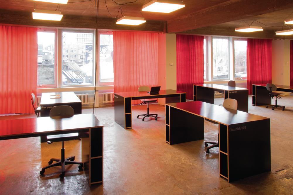 hot desks area