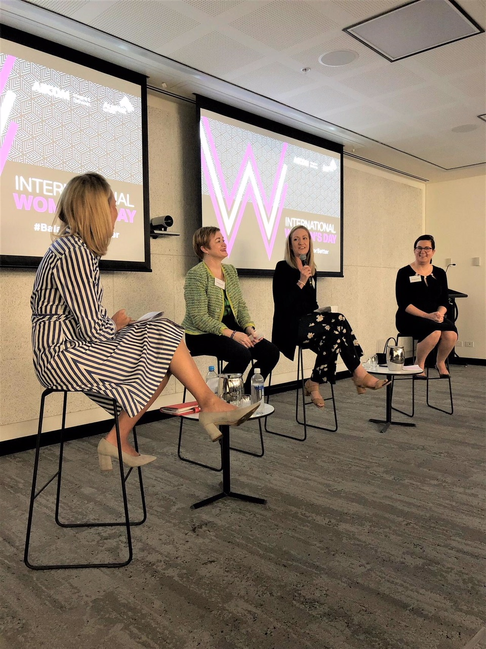 Gabrielle on the Panel at the AECOM International Women's Day Event
